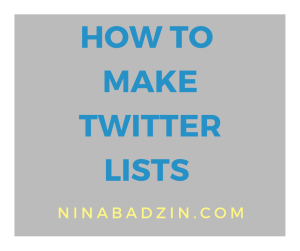 How to Make Twitter Lists