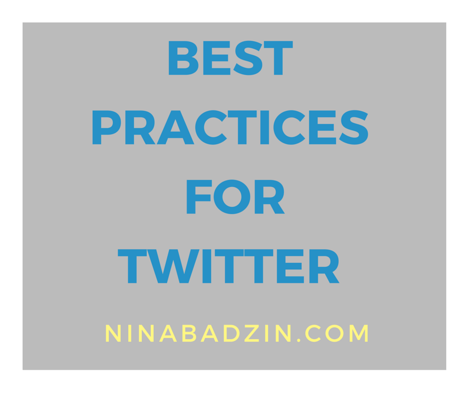 best practices for Twitter