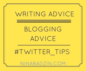 writing blogging twitter tips nina badzin