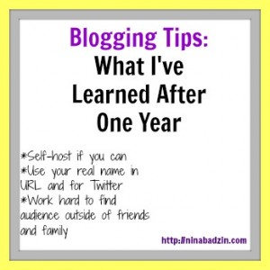 What I've Learned After One Year of Blogging