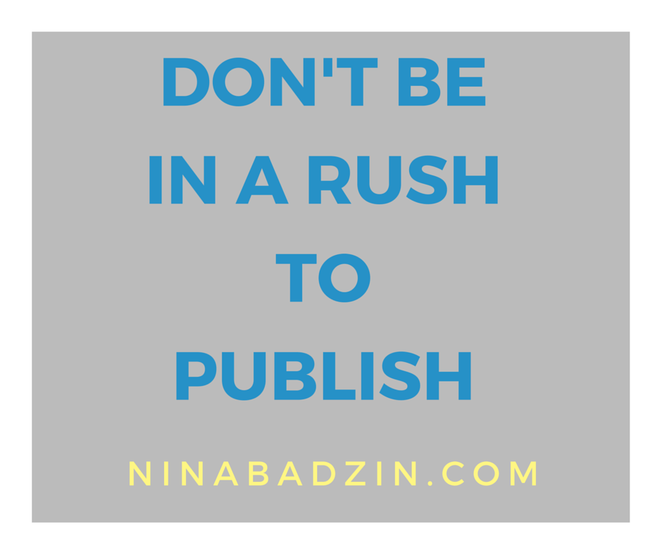 in a rush to publish