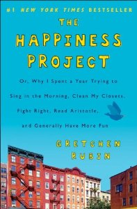 The Happiness Project by Gretchen Rubin (photo cover via Amazon)