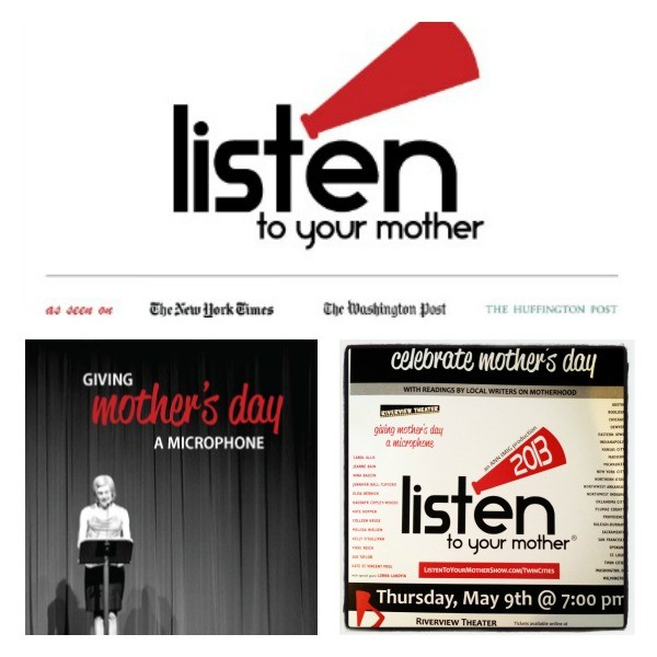 First Rehearsal: Listen to Your Mother