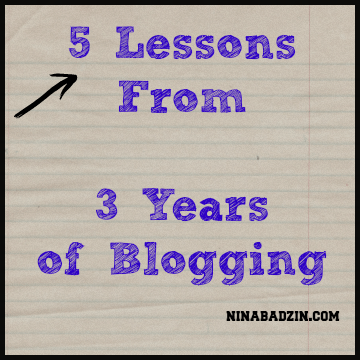 lessons from blogging nina badzin