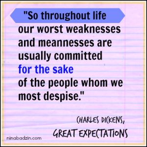Great Expectations quote on how we treat friends