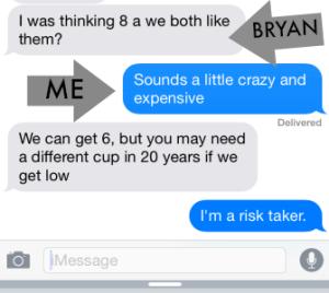 some texts with bryan