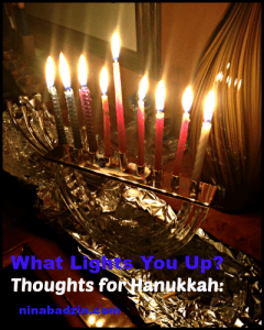 What's Lights You Up For Hanukkah 2014 photo by Nina Badzin
