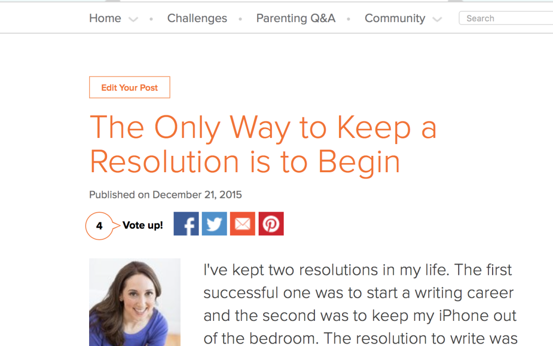 New Year's Resolutions: Today Show Site!