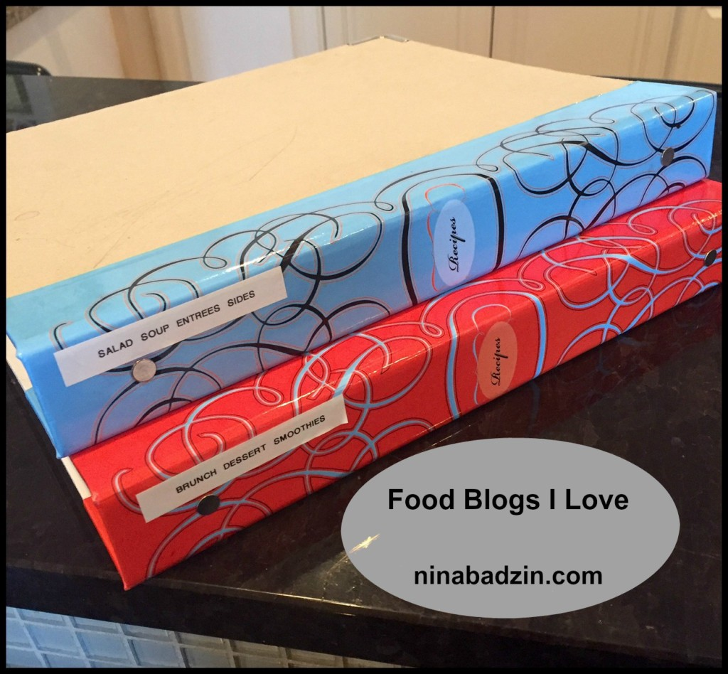 How I keep recipes from food blogs organized