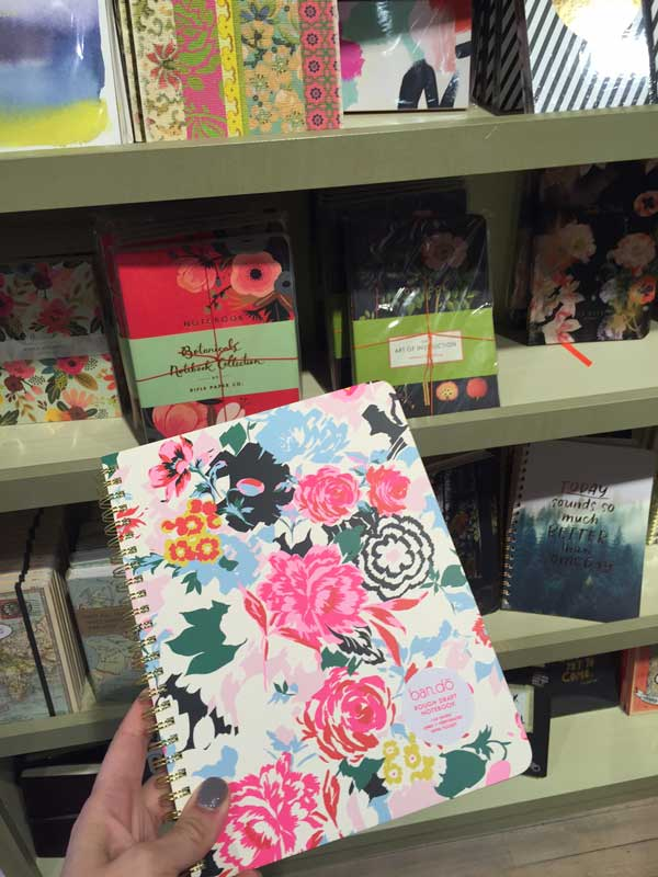 My fabulous new notebook from Paper Source in Edina, MN. I also bought a new pen. Okay, two pens.