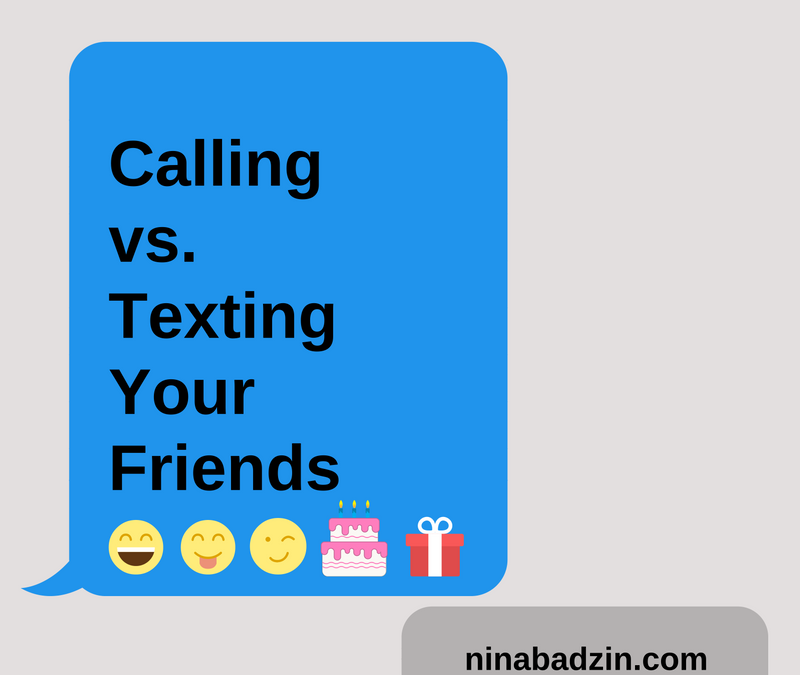 Calling vs Texting Your Close Friends