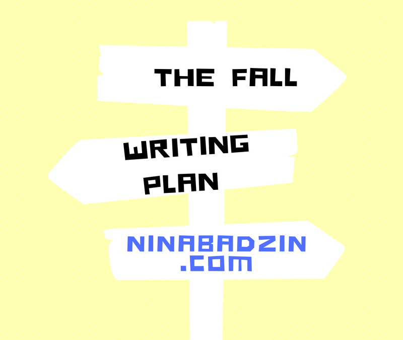 Fall Writing Plan