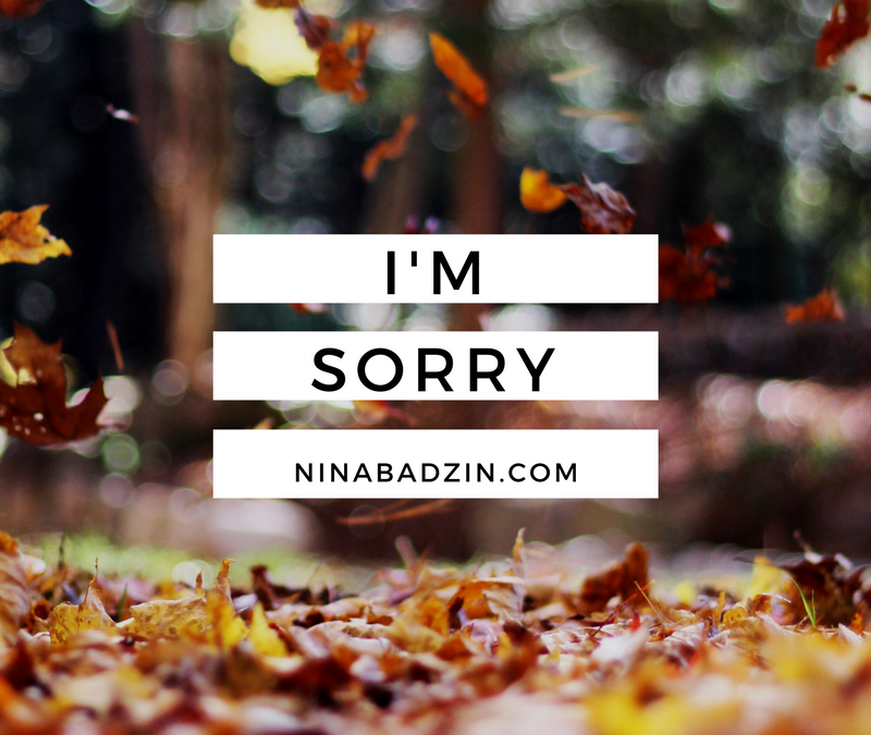 A Round-Up of I'm Sorry