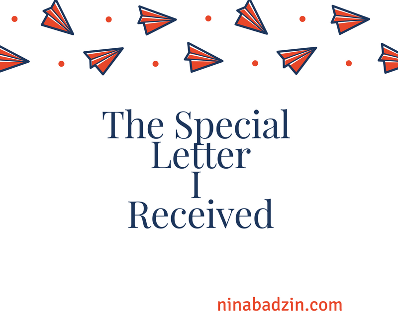 The Special Letter I Received