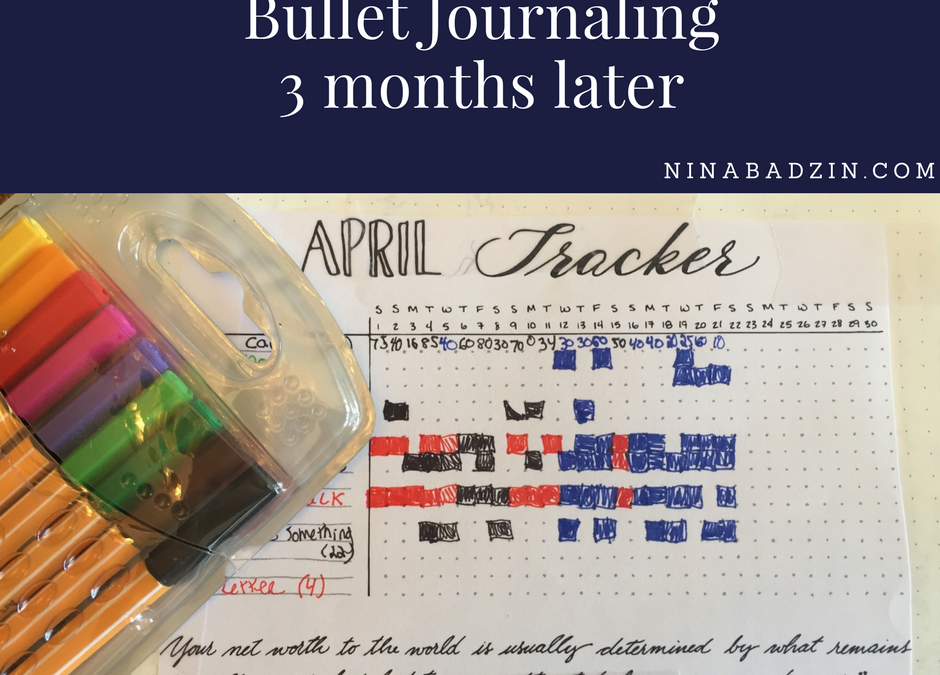 Bullet Journal: Three Months Later